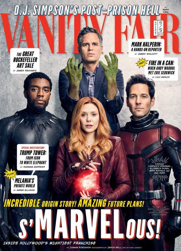 Vingadores na capa da Vanity Fair