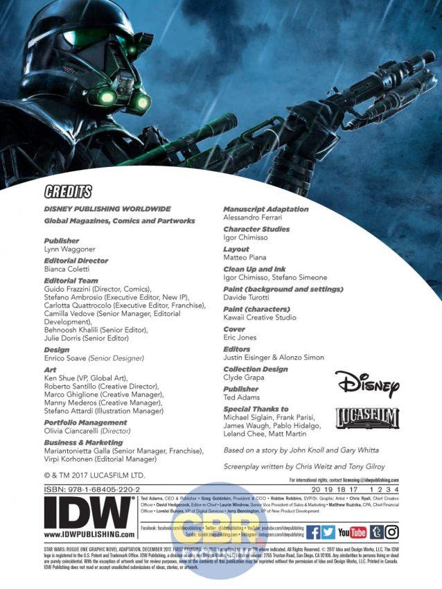 Star Wars Rogue One adaptação em quadrinhos oficial da IDW