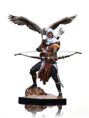 Bayek, o protagonista de Assassin's Creed Origins, virou action figure pela Iron Studios