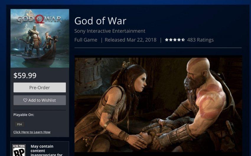 Data de lançamento de God of War pode ter vazado