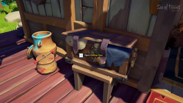 Dicas Sea of Thieves para customizar roupas (Reprodução Prima Games) - abra este baú