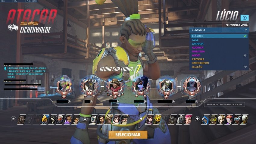 trocar de skin em overwatch