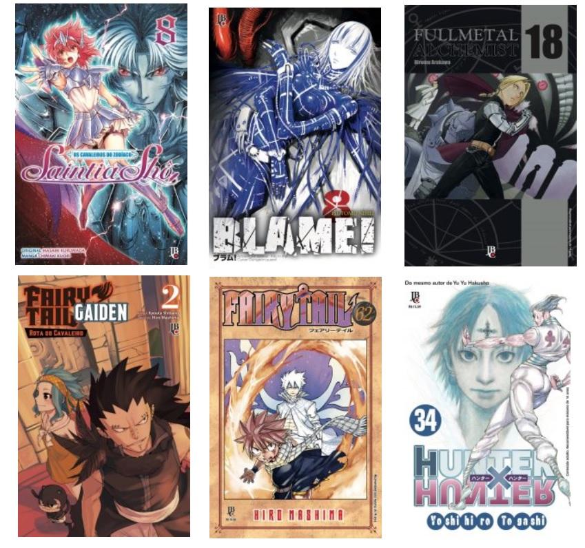 lançamentos de mangás da Editora JBC em fevereiro de 2018