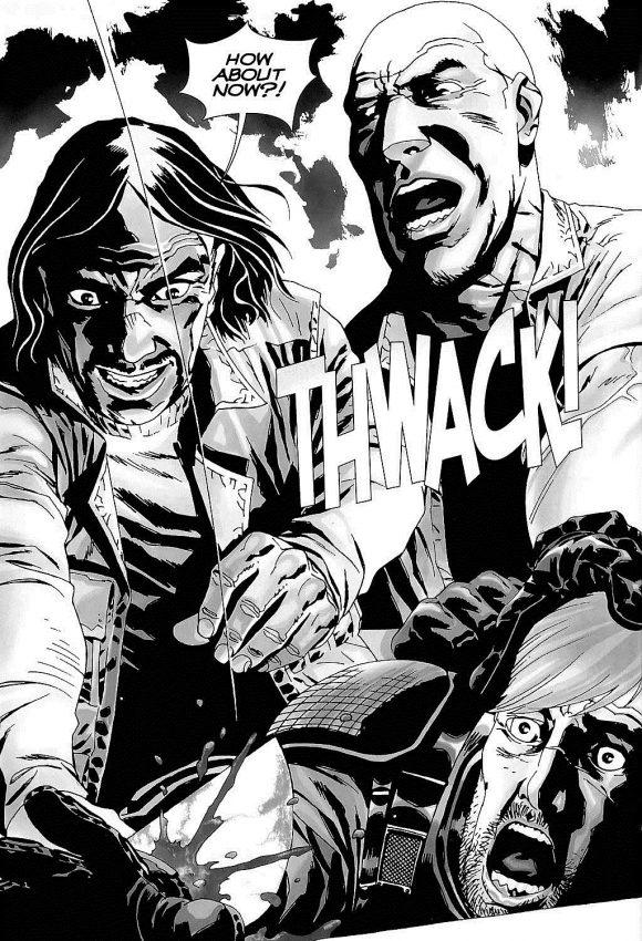 Rick Grimes teve a mão decepada na edição 28 da história em quadrinhos de The Walking Dead