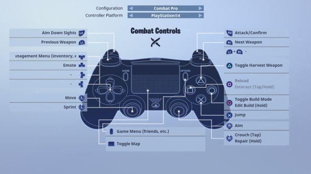 Comandos para se abaixar em Fortnite (reprodução PrimaGames)