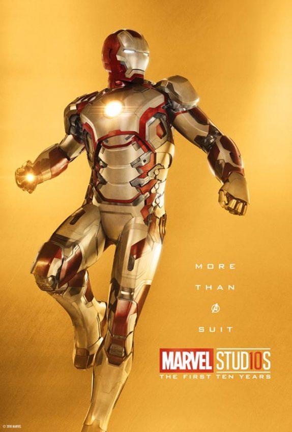 Pôster comemorativo dos 10 anos de Marvel nos cinemas: Homem de Ferro