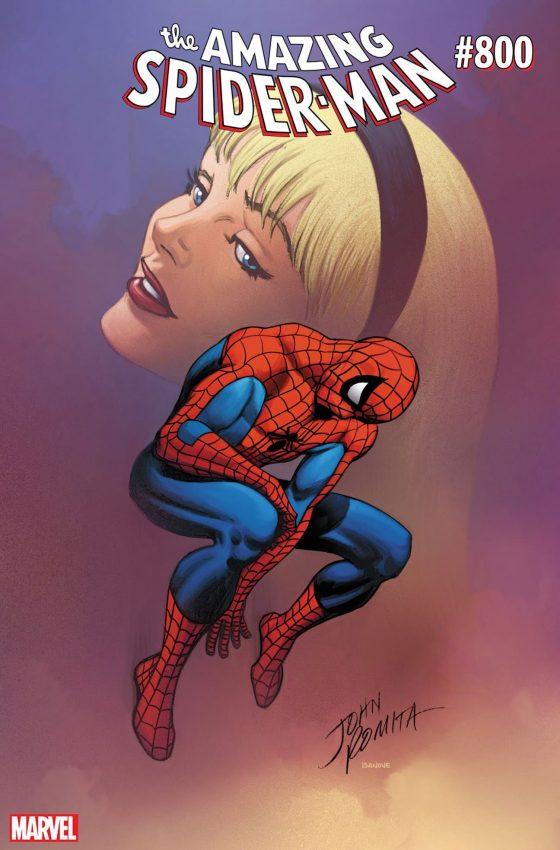 Capa de John Romita para o gibi 800 do Homem-Aranha