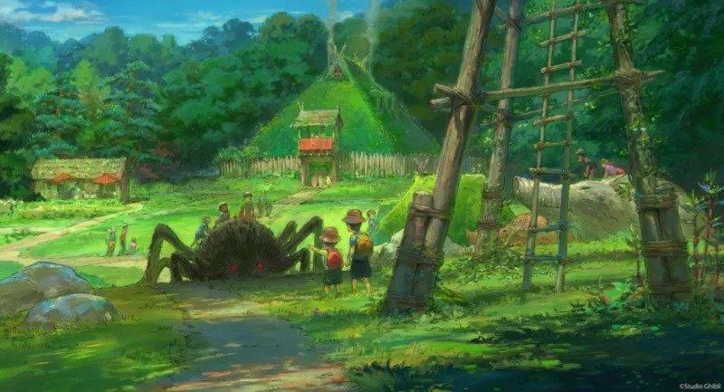 Arte conceitual do parque do Studio Ghibli