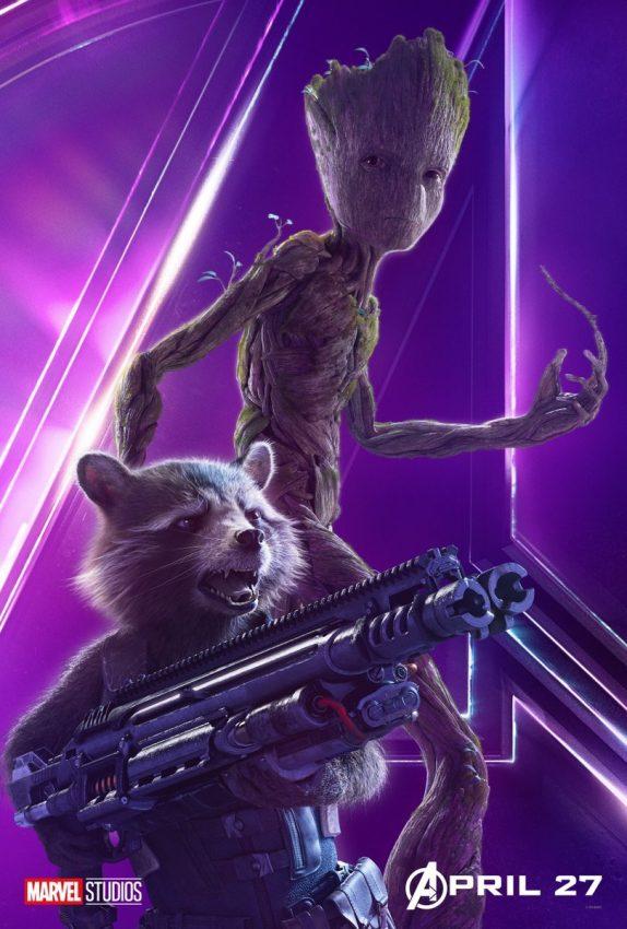 Vingadores Guerra Infinita Groot e Rocket