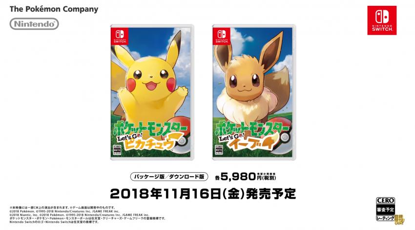 Pokémon Let's Go Pikachu e Eevee em suas gloriosas caixinhas!